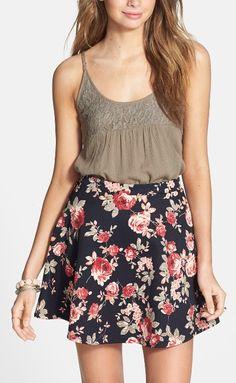 Summer approved floral skirt