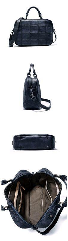 Handmade Full Grain Genuine Leather Briefcase Messenger Bag Designer  Handbags Men s Briefcase 40b2496af96de