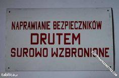 naprawianie » Elektryka Prąd Nie Tyka – instalacje elektryczne w praktyce Poland Country, Wood Tools, Quote Posters, Trust Me, The Past, Memories, Humor, Words, Funny