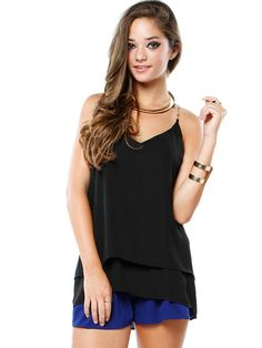 CHAIN SHOULDER CAMI TOP #CAMI #TOP #CHAIN