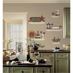 Modern Country Kitchen Wall Decor - All these purposes are preserved and many more advantages are gained when upgrading the Kitchen Wall Design, Kitchen Decor Sets, Kitchen Themes, Kitchen Walls, Diy Kitchen, Kitchen Ideas, Chef Kitchen, Awesome Kitchen, Kitchen Pictures