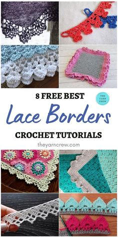 8 Free Best Lace Border Crochet Tutorials. Free Best Lace Border Crochet Tutorials curated by The Yarn Crew. Crochet Border Patterns, Crochet Blanket Border, Crochet Stitches, Crochet Edgings, Crochet Game, Crochet Books, Free Crochet, Crochet Tutorials, Crochet Projects