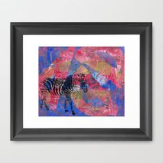 Gel Zebra  Framed Art Print by Rachel Winkelman - $32.00