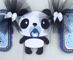 Panda bebé ducha panda bandera bandera de ducha de bebé es