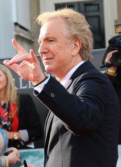 Alan Rickman. 'Harry Potter and the Deathly Hallows: Part 2' premiere, NY (2011)