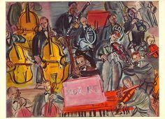 """Raoul DUFY (Francia 1877–1953) fue un pintor FAUVISTA. Berthe Weill expuso la obra de Dufy en su galería. La obra de Henri Matisse """"Luxe, Calme et Volupté"""", que Dufy vio en el Salon des Indépendants en 1905, fue una revelación para el joven artista, quien dirigió su interés hacia el Fauvismo. Los fauves (que significa «fieras», «bestias salvajes») trabajaban con colores llamativos e irreales y atrevidas formas; ricos contornos marcaban su obra. Dufy adoptó este estilo al que añadió un trazo…"""