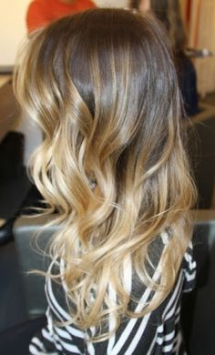 Blonde * Brown * Ombre. I wouldn't mind trying something like this, but maybe with a dark blonde on top, or a wheat blonde? by maude