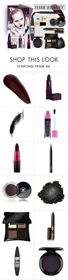 """Dark Beauty"" by eirini-kastrou on Polyvore featuring beauty, Surratt, Lipstick Queen, Oris, MAC Cosmetics, NARS Cosmetics, Chanel, Illamasqua, Charlotte Tilbury and Maybelline"