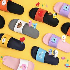 x Line Friends] Silicone Slippers K Pop, Bts Clothing, Blackpink Photos, Kpop Merch, Line Friends, Kpop Outfits, Frozen Party, Bts Jimin, North America