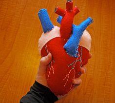 Anatomical Heart Plush - Human Heart Plush. $35.00, via Etsy.