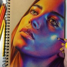 pencil art Beautiful artwork b Pencil Art Drawings, Art Drawings Sketches, Realistic Drawings, Colorful Drawings, Realistic Paintings, Drawing Faces, Drawing Art, Drawing Tips, Drawing Ideas