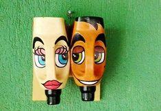 Plastic Bottle Planter, Plastic Jugs, Plastic Bottle Crafts, Plastic Art, Recycle Plastic Bottles, Milk Jug Crafts, Decorated Flower Pots, Bottle Wall, House Plants Decor