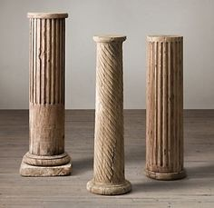 """Make Your Own """"Stone"""" Decorative Column... With Pool Noodles..."""
