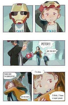 This is actually confirmed canon by the wiki that the kid from iron man 2 in the… - Marvel Universe Avengers Humor, Marvel Avengers, Marvel Comics, Marvel Fan Art, Funny Marvel Memes, Marvel Jokes, Marvel Heroes, Captain Marvel, Marvel Universe