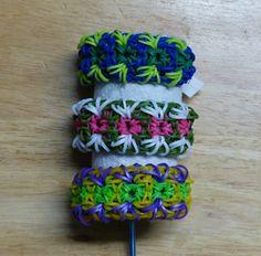 "Rainbow Loom Bracelet - Original Design - ""EMBROIDERY"" (ref #5i)"