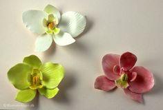 Sådan laver du en orkide i fondant / gum paste - Blomsterkager