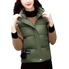 iBaste Women Ladies Quilted Padded Vest Sleeveless Down Coat Warm Gilet