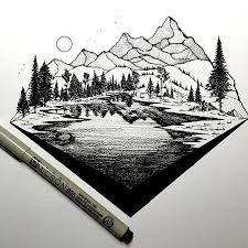 """Résultat de recherche d'images pour """"mountains sketch"""""""