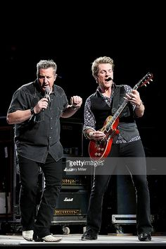 Gary LeVox and Joe Don Rooney of Rascal Flatts perform in concert during the San Antonio Stock Show And Rodeo at the AT&T Center on February 2014 in San Antonio, Texas. Country Music Stars, Country Music Singers, Andrew Ridgeley, George Michael Wham, Rascal Flatts, My One And Only, Picture Video, True Roots, Concert
