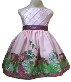 dccfc6b038 Vestido Masha e o Urso Infantil Festa Menina - Tia Gina.