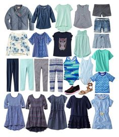 Girls' Spring/Summer Capsule by minimalintent Capsule Outfits, Capsule Wardrobe, Tween Fashion, Toddler Fashion, Summer Outfits For Teens, Kids Outfits, Jupe Short, Kids Wardrobe, Wardrobe Ideas