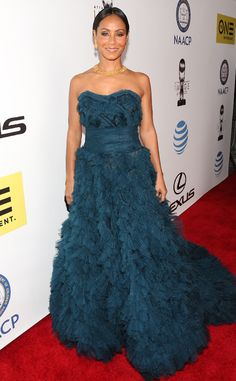 Jada Pinkett Smith from NAACP Image Awards 2016: Red Carpet Arrivals  The petite star stuns in teal.
