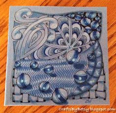 by Betsy: The cover of my mini-book for Zentangle® tiles