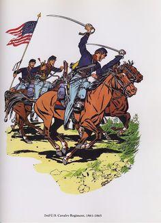 PLATES- CMH: 2nd US Cavalry Regiment, 1861-1865, by H. Charles McBarron, Jr.