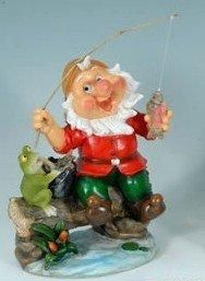 Fishing Gnome Garden Statue