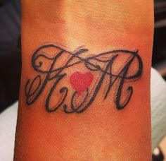 Our initials + infinity ❤ tattoo.