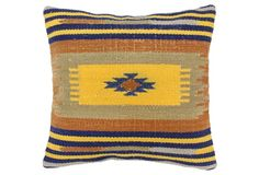 Kilim 20x20 Wool-Blended Pillow, Multi