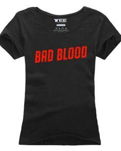 Taylor Swift Bad Blood t shirt for girls 1989 album slim tee-