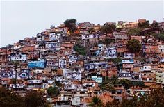 JR's faces of the favelas look back at the world.