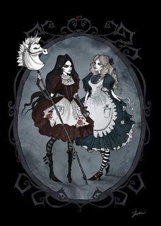 Different faces of Alice by IrenHorrors.deviantart.com on @deviantART