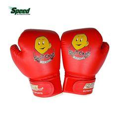 高品質の子1ペア耐久性ボクシング手袋漫画スパーリングキック戦い手袋トレーニング拳puレザームエタイ土嚢