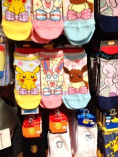 Pokemon Photos from Tokyo - Pikachu Eevee Sylveon socks at Pokemon Center Tokyo