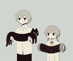 Dark Art Illustrations, Illustration Art, Character Art, Character Design, Sun Projects, Arte Obscura, Sad Art, Japanese Artists, Cat Drawing