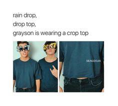It's rain drop drop top gray you look cute in that crop top