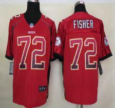 Nike NFL Kansas City Chiefs Jerseys #72 Eric Fisher Drift Fashion Red Elite Jersey
