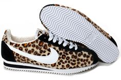 """because after 3 kids, 4"""" heels are no longer my best friends :( Leopard Printed Nike Cortez For Women"""