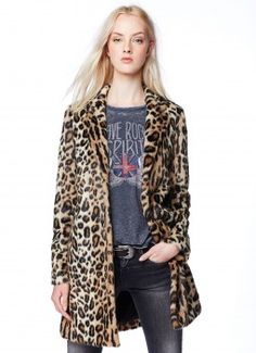 AW14 Women Collection  - SESSILE animal print coat