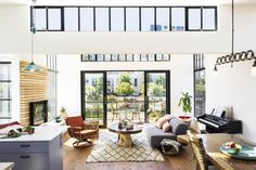 Tufted Tillary Sofa from west elm in a San Francisco Houseboat via @California Home + Design