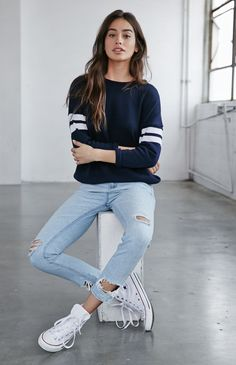 Bullhead Denim Co. Breezy Blue Ripped Skinny Boyfriend Jeans