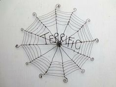 Terrific Charlottes Web Inspired Barbed Wire Spider Web Made to Order on Etsy, $75.00