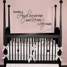Guardian Angel Nursery Wall Quote Removable