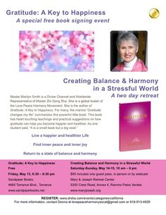Book Signing with Master Marilyn - Gratitude A Key to Happiness - Master Sha's Soul Healing Group San Francisco (San Francisco, CA) - Meetup