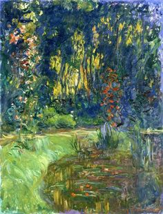 """""""Water Lily Pond At Giverny"""" - Claude Monet"""