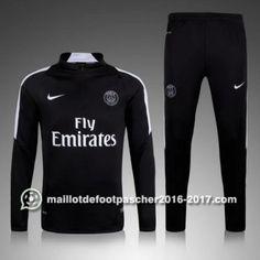 Nike Veste 1/4 zip Noir PSG 2016