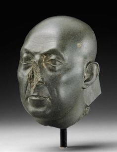 Head of a priest (The Boston Green Head), Egyptian, Late Period, Dynasty 30, 380-332 B.C. Museum of Fine Arts, Boston.