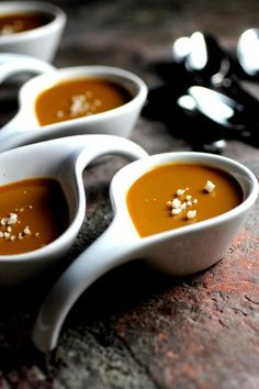 Salted Caramel Brown Sugar Pots de Creme • Taste With The Eyes • where the image is meant to titillate and inspire the cook